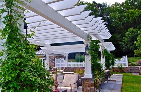 white pergola pictures pergola and patio cover pittstown nj photo gallery landscaping network