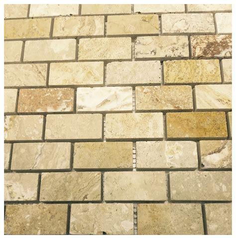 travertine tile mosaic onyx travertine 1x2 polished mosaic tiles