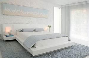 Schlafzimmer In Weiß Einrichten : das schlafzimmer minimalistisch einrichten 50 ~ Michelbontemps.com Haus und Dekorationen