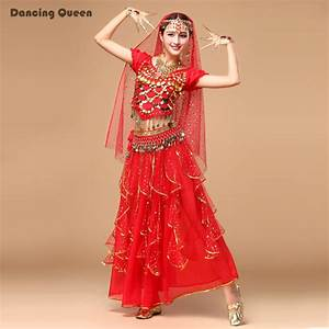 egyptian Belly Dance Costume Professional 5 Pcs Top&Skirt ...