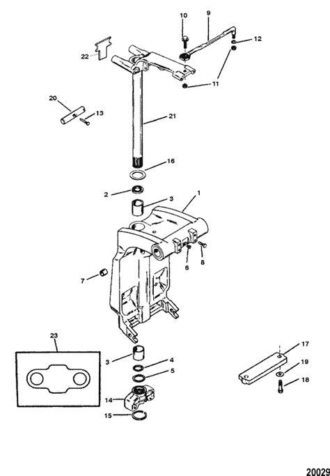 force  hp  swivel bracket steering arm parts