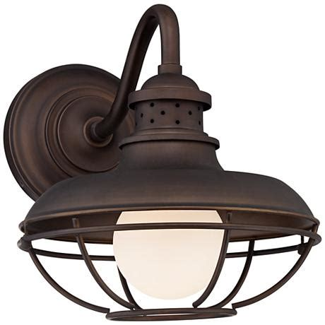 franklin park metal cage 13 quot high bronze outdoor wall light