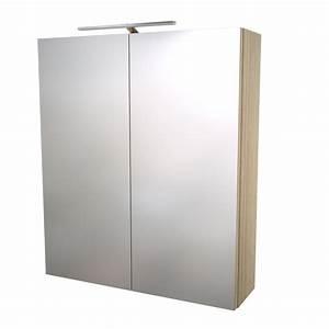 Armoire De Toilette 60x70cm Avec Miroir Et Clairage LED IP 33