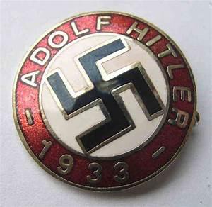 Adolf Hitler `1933` pin badge