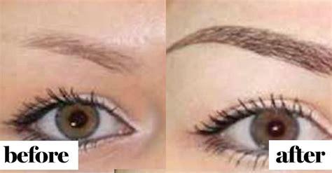 tattooed eyebrows ideas  pinterest eyebrow