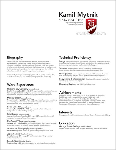 resume for graphic designers resume examples templates professional graphic design