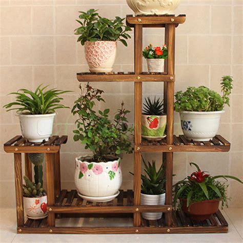 stylish ebay living room furniture wooden plant flower herb display stand shelf storage rack