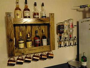 pallet whiskeys shelf for home bar o 1001 pallets With best brand of paint for kitchen cabinets with set of candle holders