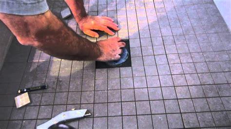 install ceramic tile   shower floor youtube