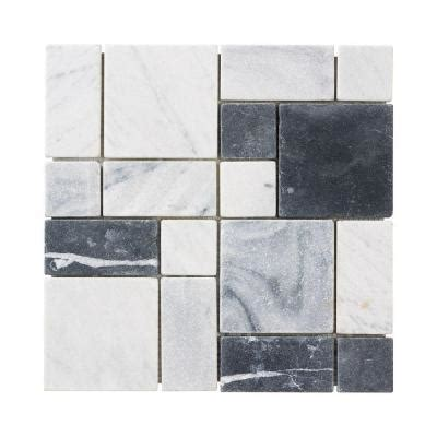 Jeffrey Court Mosaic Tile by Jeffrey Court Carrara Block 12 In X 12 In X 8 Mm Marble