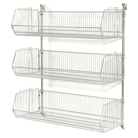 wire hanging shelf wall shelves wall mounted wire basket shelves wall