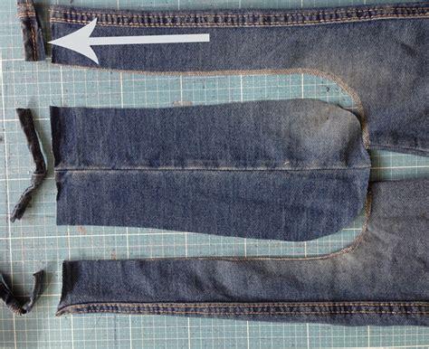 tutorial jeans recycling eine reithose naehen