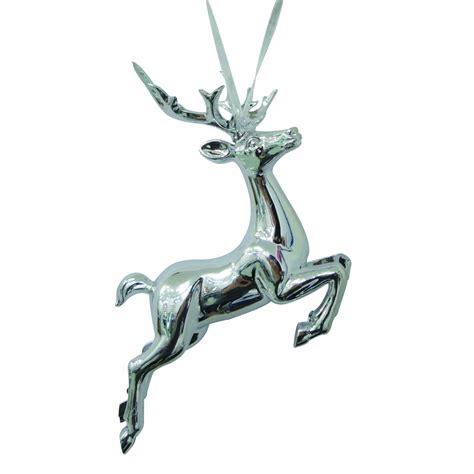 jaclyn smith 3d silver reindeer christmas ornament deer
