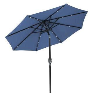 led outdoor umbrella trademark innovations polyester 7 foot solar led patio 3710