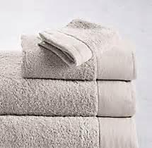 restoration hardware towels linen bordered 650 gram turkish towel collection mist 1914
