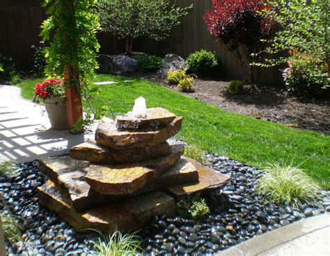 green and brown bathroom outdoor water fountains design with exterior