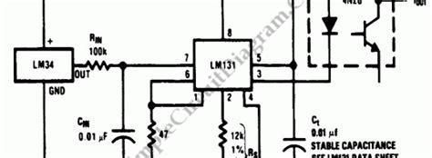 Temperature Sensor Simple Circuit Diagram