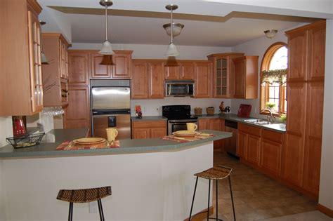maple finish kitchen cabinets beautiful modular home kitchen with merillat cabinets 7349