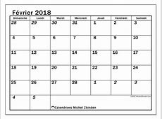 Calendrier février 2018 66DS Michel Zbinden fr