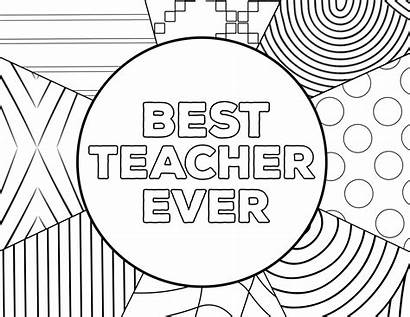 Teacher Coloring Appreciation Pages Printable Ever Card