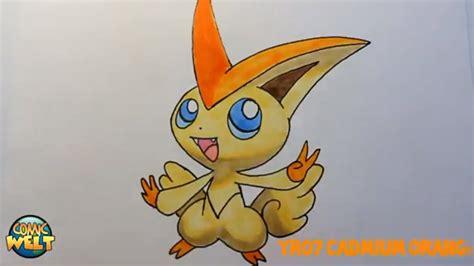 wie zeichnet man victini pokemon youtube