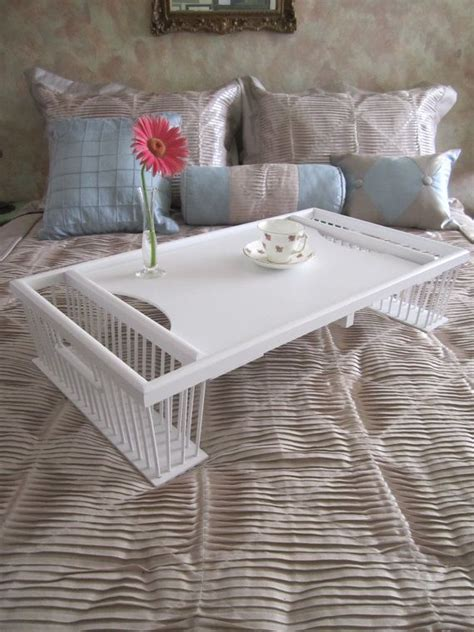 rattan breakfast tray bed tray beach cottage decor