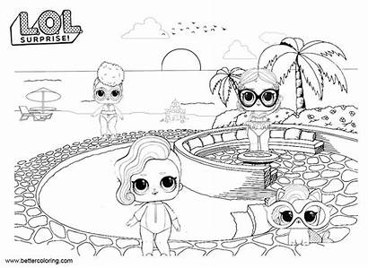 Lol Coloring Dolls Pages Pets Doll Pet