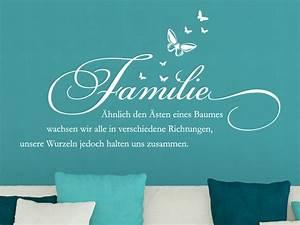 Wandtattoo familie ahnlich den asten eines baumes for Wandtattoo sprüche familie