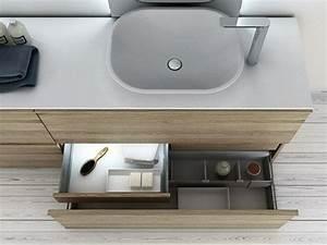 Meuble Salle De Bain Metal : le meuble salle de bain minimaliste vu par inbani ~ Teatrodelosmanantiales.com Idées de Décoration