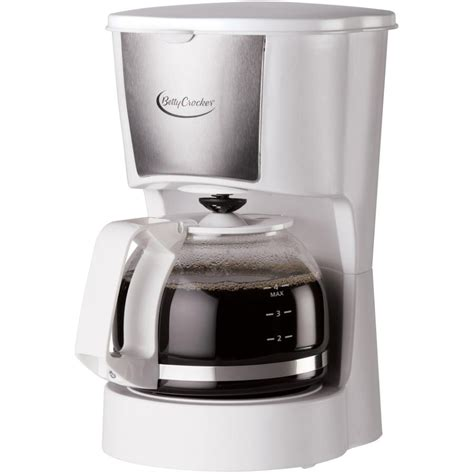 Small footprint takes up less counter space. 4 Cup White Permanent Basket Filter Coffee Maker   Walmart Canada