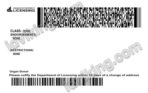 license washington drivers template wa psd fake templates