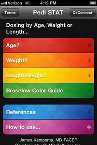 Pedi Stat App Is A Quick Drug Dose Reference For Pediatric