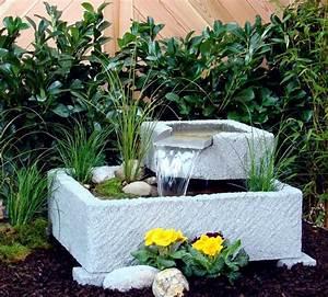 Springbrunnen brunnen wasserspiel granitwerkstein stein for Feuerstelle garten mit markise balkon 4m