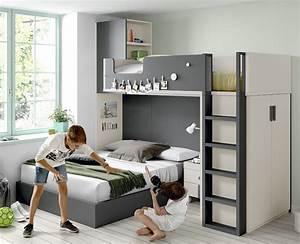 Lit Superposé Ado : lit superpos avec un lit coffre et un lit 190x90 ros ~ Farleysfitness.com Idées de Décoration