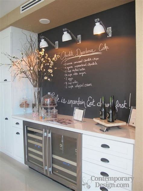 chalkboard kitchen backsplash chalkboard paint backsplash