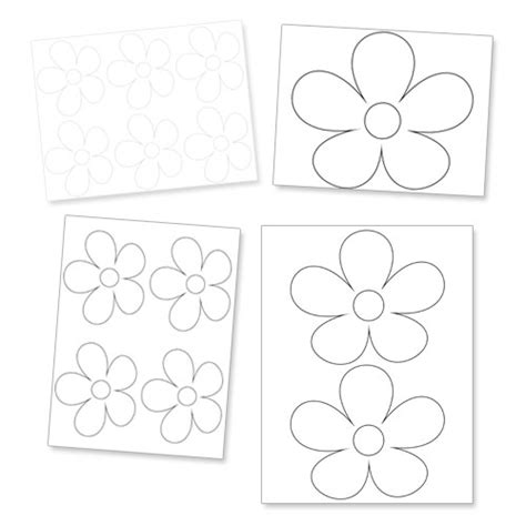 printable daisy flower template printable treatscom