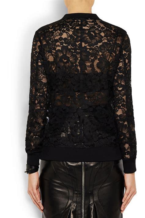 lyst givenchy sweatshirt  black lace  black