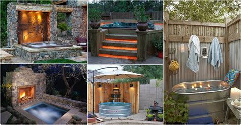 outside tub ideas fascinating outdoor hot tubs that will add style to your life
