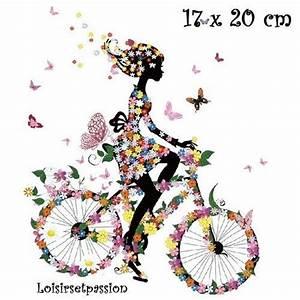 Photo Patch Transfer Medium : patch applique dessin transfert thermocollant fille bicyclette robe fleurie papillons 17 ~ Orissabook.com Haus und Dekorationen