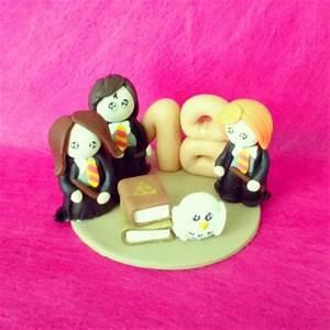 Bougie Harry Potter : cr ation bougie anniversaire harry potter en p te fimo cr ation d coration de f tes de ~ Melissatoandfro.com Idées de Décoration