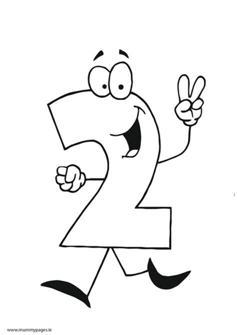 number  colouring page mummypagesie