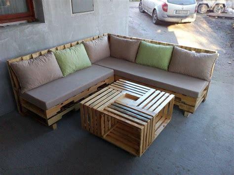 plan canapé en palette wooden pallet l shape sofa set