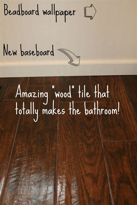 Home Depot Wood Look Tile by Bathroom Sneak Peak Wood Tile Tucking In Superheroes