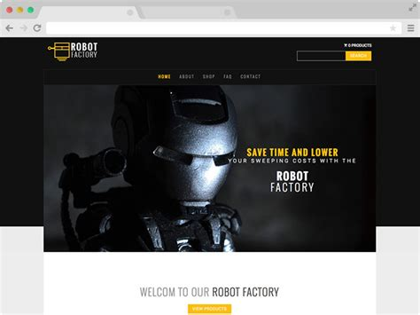 bootstrap multipage product showcase template robot