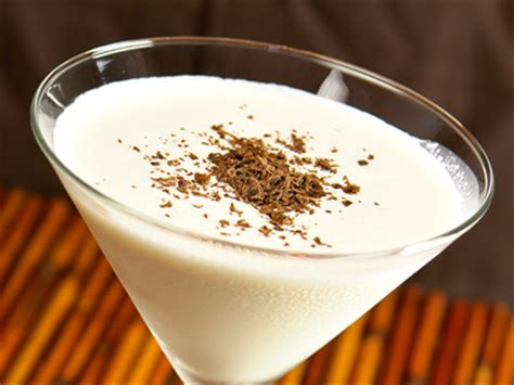 eggnog martini recipe creamy cocktail drink with eggnog and vodka