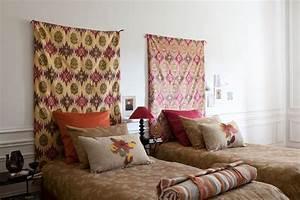 Tete De Lit Tissu : etofea t te de lit tissu jet s et t te de lit sur mesure ~ Premium-room.com Idées de Décoration