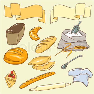 Vektorreihe Zum Thema Brot Kein Farbverlauf Stock