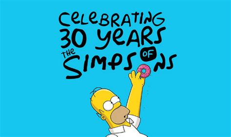 Celebrating 30 Years Of The Simpsons #infographic Visualistan