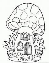 Coloring 123coloringpages Paddenstoel Tekening Afkomstig Kleurplaten sketch template