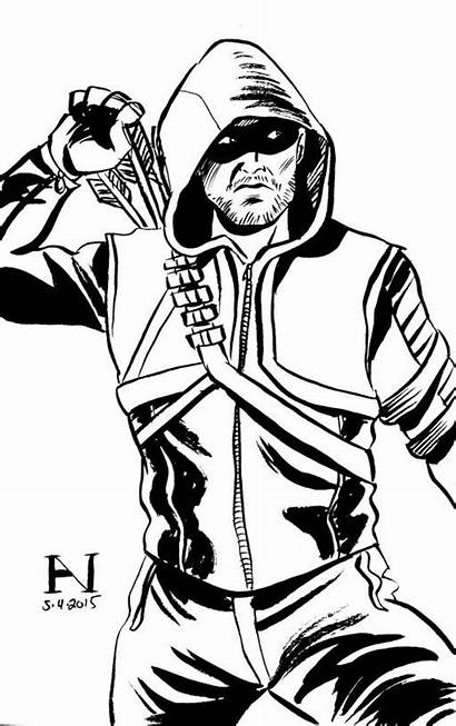 Arrow Coloring Pages Drawing Superhero Ink Flash